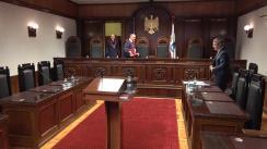 Curtea Constituțională examinează sesizarea nr.1f/2018 din 4 ianuarie 2018 privind constatarea circumstanțelor care justifică interimatul funcției de Președinte al Republicii Moldova (refuzul de a promulga Legea nr.257 cu privire la completarea Codului audiovizualului al Republicii Moldova nr.260/2006)