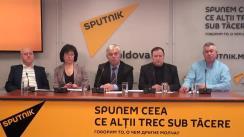 """Conferință de presă cu tema """"Război cu monumentele din Moldova - cine încearcă să explodeze societatea moldovenească"""""""