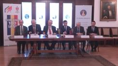 Conferință de presă cu ocazia semnării unui acord de parteneriat instituțional dintre Academia Română și Primăria municipiului Iași, în vederea realizării unor proiecte comune pentru marcarea Centenarului Primului Război Mondial și al Marii Uniri