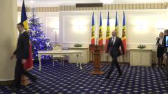 Ceremonia de depunere a jurământului de învestitură a noilor miniștri desemnați în Guvernul Filip