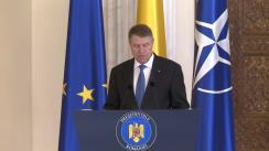 Ceremonia de decorare a unor instituții de învățământ de către Președintele României, Klaus Iohannis