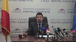 Conferință de presă susținută de președintele Casei Naționale de Asigurări de Sănătate, Laurențiu Teodor Mihai