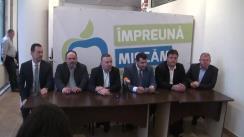 Conferință de presă susținută de președintele filialei PMP Iași, deputatul Petru Movilă, și președintele executiv al PMP, deputatul Eugen Tomac