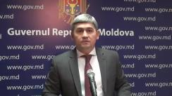 Declarațiile lui Alexandru Jizdan după ședința Guvernului Republicii Moldova din 17 ianuarie 2018