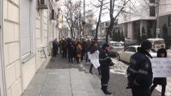 """Flashmob desfășurat de Partidul Acțiune și Solidaritate cu titlul """"Cerem reducerea imediată a tarifului la gazele naturale"""""""
