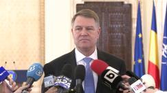 Declarația Președintelui României, Klaus Iohannis, la finalul întâlnirii cu șefii misiunilor diplomatice acreditați la București