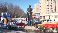 Manifestație organizată de Partidul Liberal la bustul domnitorului Alexandru Ioan Cuza