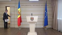 Conferință de presă susținută de fracțiunea parlamentară a Partidului Liberal Democrat din Moldova
