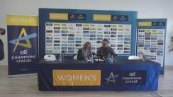 Conferință de presă organizată de CSM București care prefațează debutul în grupele principale ale Ligii Campionilor la handbal feminin, contra echipei maghiare Gyori Audi ETO KC