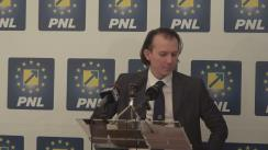 Conferință de presă susținută de vicepreședintele PNL, Florin Cîțu