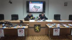 Conferință de presă susținută de Marin Maxian în cadrul căreia sunt oferite informații despre noile modificări și completări a Legii nr. 130/2012 privind regimul armelor și al munițiilor cu destinație civilă