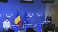 Declarație de presă susținută de Președintele României, Klaus Iohannis, Președintele Comisiei Europene, Jean-Claude Juncker, și Comisarul european pentru Politică Regională, Corina Crețu