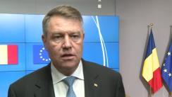 Declarație de presă susținută de Președintele României, Klaus Iohannis, după întâlnirea cu Președintele Consiliului European, Donald Tusk
