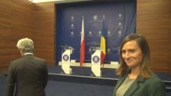 Conferință de presă susținută de Ministrul Afacerilor Externe al României, Teodor Meleșcanu, și Ministrul Afacerilor Externe al Republicii Polone, Jacek Czaputowicz
