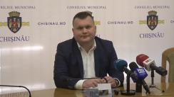 Conferință de presă susținută de președintele fracțiunii PL din Consiliul Municipal Chișinău, Ion Cebanu