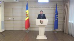 Declarație de presă susținută de Președintele Parlamentului Republicii Moldova, Andrian Candu, după ședința cu președinții Comisiilor parlamentare permanente