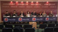 """Conferință de presă organizată de Grupul de inițiativă pentru anularea sistemului electoral mixt cu tema """"Convocarea repetată a grupului de inițiativă pentru referendum"""""""