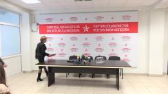 """Conferință de presă susținută de Președintele Partidului Socialiștilor din Republica Moldova, Zinaida Greceanîi, cu tema """"Prioritățile fracțiunii PSRM în sesiunea de primăvară-vară a Parlamentului Republicii Moldova"""""""