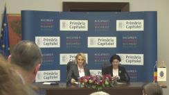 Conferință de presă susținută de Primarul General al Municipiului București, Gabriela Firea, și Primarul General interimar al Municipiului Chișinău, Silvia Radu