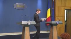 Conferință de presă după ședința Guvernului României din 15 februarie 2018
