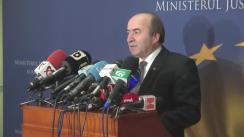 Declarație de presă susținută de Ministrul Justiției al României, Tudorel Toader