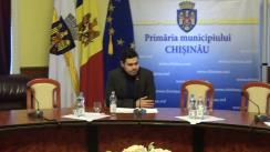 """Briefing organizat de consilierii municipali ai PSRM cu tema """"De la vorbe la fapte: Bilete electronice în transportul public din Chișinău"""""""