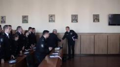 """Lecție deschisă pe subiectul """"Poliție comunitară"""" susținută de șeful IGP, Alexandru Pînzari"""