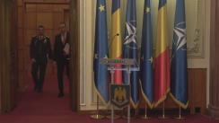 """Conferință de presă susținută de Ministrul Apărării Naționale al României, Mihai Fifor, privind concluziile în urma participării la """"Reuniunea miniștrilor apărării din statele membre ale NATO"""" și la """"Conferința de securitate"""" de la München"""