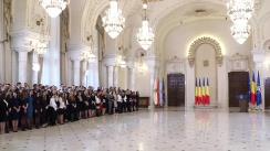 Președintele României, Klaus Iohannis primește la Palatul Cotroceni, magistrații absolvenți ai Institutului Național al Magistraturii