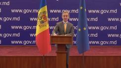 Conferință de presă susținută de viceprim-ministrul pentru Integrare Europeană, Iurie Leancă, cu privire la rezultatele vizitei lucru în România