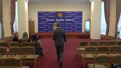 Briefing susținut de viceprim-ministrul pentru Integrare Europeană, Iurie Leancă