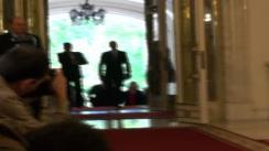 Sosirea în Holul de Onoare al Palatului Cotroceni a președinților Republicii Moldova și României