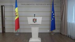 Declarația fracțiunii PSRM și PCRM în timpul ședinței Parlamentului Republicii Moldova din 1 martie 2018