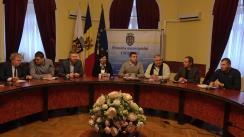 Ședința de lucru privind lucrările de deszăpezire din Chișinău