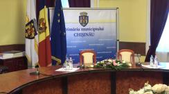 Conferință de presă susținută de primarul general interimar al municipiului Chișinău, Silvia Radu, și primarul general al municipiului București, Gabriela Firea