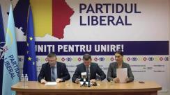 """Conferință de presă organizată de Partidul Liberal cu tema """"Conducearea Partidului Liberal depune o sesizare la Curtea Constituțională"""""""