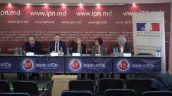 """Conferința de presă cu tema """"Transfer de experiență și de bune practici la nivel local. Cooperare între comuna Cazangic (Leova, Republica Moldova) și diaspora (Franța)"""""""