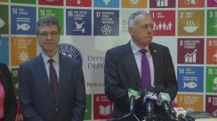 Declarație de presă susținută de economistul Jeffrey D. Sachs și coordonatorul Departamentului pentru Dezvoltare Durabilă, László Borbély