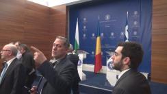 Conferință de presă susținută de Ministrul Afacerilor Externe al României, Teodor Meleșcanu, Ministrul Afacerilor Externe al Republicii Bulgaria, Ekaterina Zaharieva, și Ministrul Afacerilor Externe al Republicii Elene, Nikos Kotzias