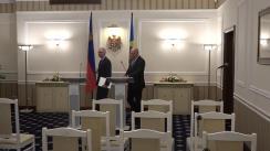 Conferință de presă susținută de Prim-ministrul Republicii Moldova, Pavel Filip, și Prim-ministrul Principatului Liechtenstein, Adrian Hasler