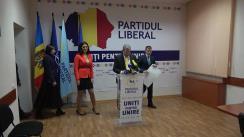 """Conferință de presă susținută de conducerea Partidului Liberal cu tema """"Declarația PL cu privire la Unirea Republicii Moldova cu România"""""""