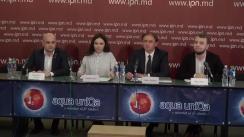 """Conferința de presă organizată de Rețeaua Națională a Consiliilor Locale ale Tinerilor din Moldova cu tema """"Lansarea procesului de chestionare a tinerilor cu privire la necesitățile lor"""""""