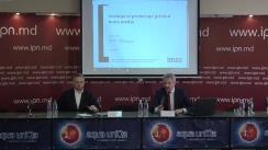 """Conferința de presă organizată de Asociația pentru Dezvoltare și Cooperare Moldova cu tema """"Prezentarea rezultatelor Sondajului Evoluțiile și Preferințele privind mass-media din Republica Moldova"""""""