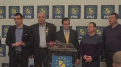 Declarații de presă după întrevederea Președintelui PNL, Ludovic Orban, cu delegația formată din aproape 100 de primari și consilieri locali unioniști din Republica Moldova