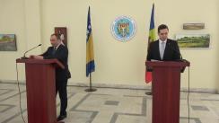 Conferință de presă susținută de Ministrul Afacerilor Externe și Integrării Europene al Republicii Moldova, Tudor Ulianovschi, și Ministrul Afacerilor Externe al Bosniei și Herțegovina, Igor Crnadak