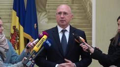 Declarațiile Prim-ministrului Republicii Moldova, Pavel Filip, după prezentarea noului ministru al Justiției, Victoria Iftodi