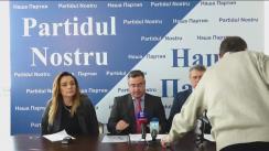 """Conferința de presă cu tema """"Partidul Nostru"""" cere de la Banca Națională a Moldovei, prin instanța de judecată, dezvăluirea conținutului raportului KROLL-2"""""""