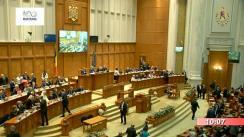 Ședința solemnă comună a Camerei Deputaților și Senatului, dedicată împlinirii a 100 de ani de la unirea Basarabiei cu România