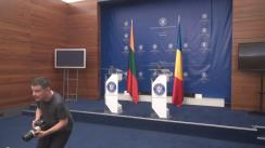 Conferință de presă susținută de Ministrul Afacerilor Externe al României, Teodor Meleșcanu, și Ministrul Afacerilor Externe al Lituaniei, Linas Linkevičius