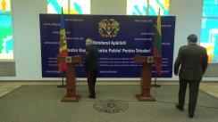 Briefing de presă susținut de Comandantul Armatei Naționale, general de brigadă Igor Cutie, și șeful Statului Major al Apărării din Lituania, general-locotenent Jonas Vytautas Zukas